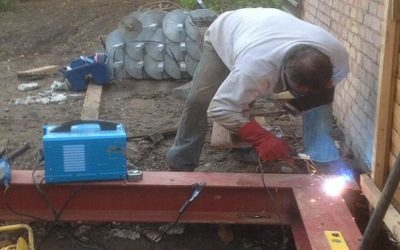 Screw Piles & Beams Installation for House Extension Bromley, Kent