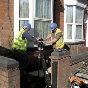 Subsidence repair underpinning DJ-brackets-to-support-bay-window-Wolverhampton - square