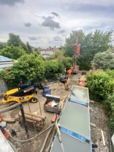 Ground source heat pump in east london semi detached house