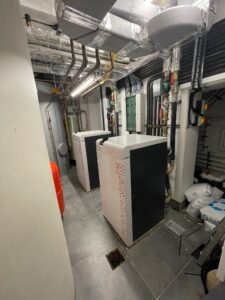 How to install a commercial plantroom with air source heat pumps