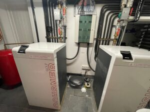 How to change our a commercial boiler room with air source heat pumps bms integration high temperature