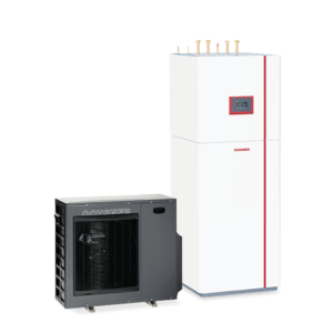 Compact air source heat pump for london homes